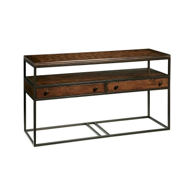 Fine Furniture Design Rectangular Metal and Wood Console Table