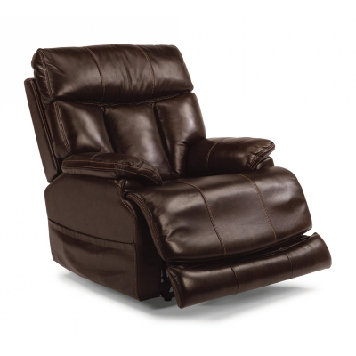 Flexsteel 1595 50ph Clive Leather Power Recliner With