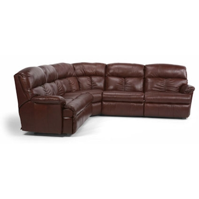 Flexsteel Leather Reclining Sectional