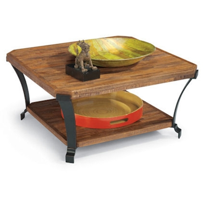 Flexsteel Square Cocktail Table with Casters