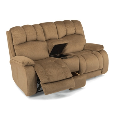 Flexsteel 4841 601m Huron Fabric Power Reclining Love Seat