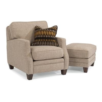Flexsteel Fabric Chair and Ottoman