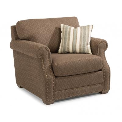 Flexsteel Fabric Chair with Nailhead Trim