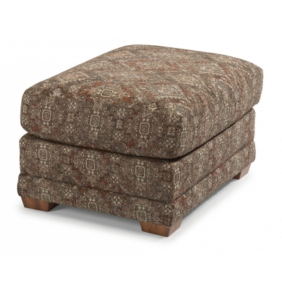 Flexsteel Fabric Ottoman without Nailhead Trim