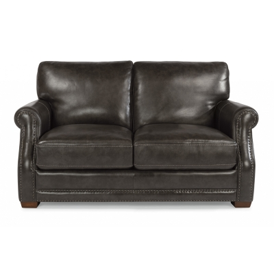 Flexsteel Leather Loveseat