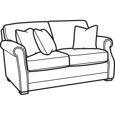 Flexsteel Fabric Loveseat without Nailhead Trim