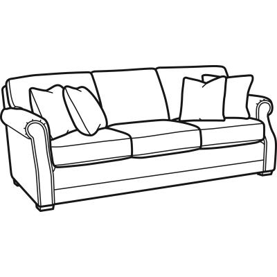 Flexsteel Fabric Sofa without Nailhead Trim