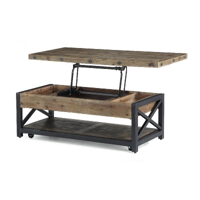 Flexsteel Rectangular Lift Top Coffee Table with Casters