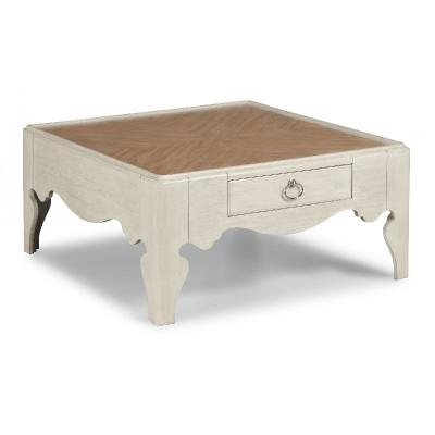 Flexsteel Square Scroll Leg Coffee Table