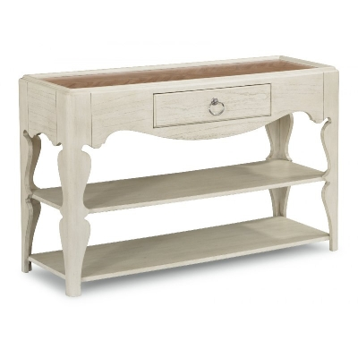 Flexsteel Scroll Leg Sofa Table
