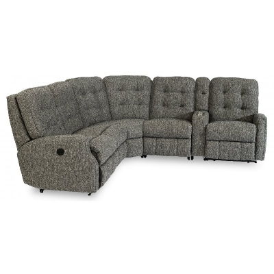 Flexsteel Power Reclining Sectional with Power Headrests
