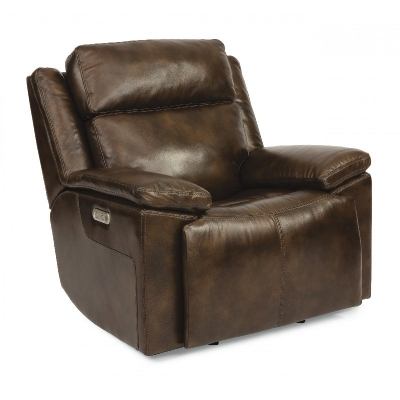 Flexsteel Power Gliding Recliner with Power Headrest