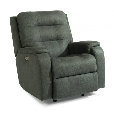 Flexsteel Power Recliner with Power Headrest and Lumbar