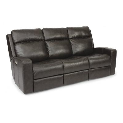 Flexsteel Power Reclining Sofa with Power Headrests