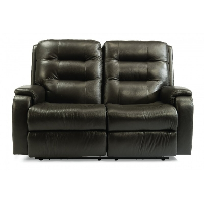 Flexsteel Power Reclining Loveseat with Power Headrests and Lumbar