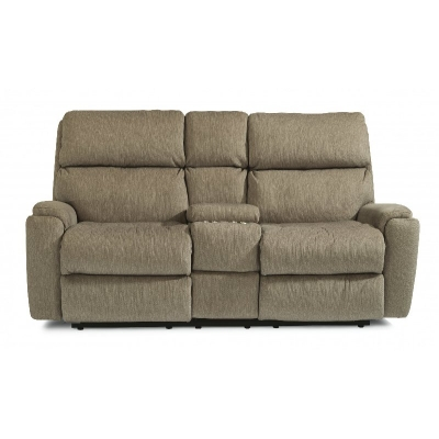 Flexsteel Reclining Loveseat with Console