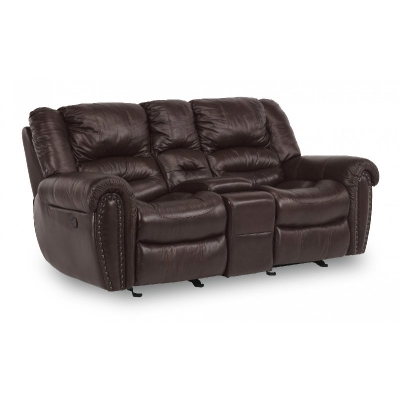 Flexsteel Gliding Reclining Loveseat with console