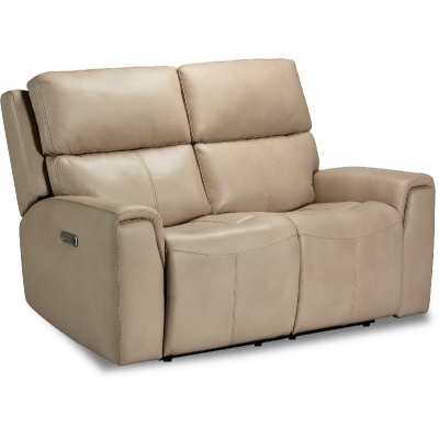 Flexsteel Power Reclining Loveseat with Power Headrests