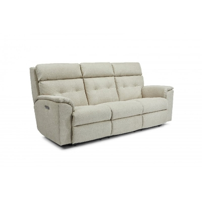Flexsteel Power Reclining Sofa with Power Headrests
