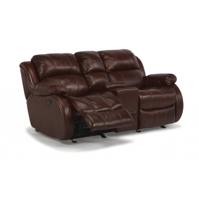 Flexsteel 1206 604p Brandon Leather Power Reclining Loveseat With