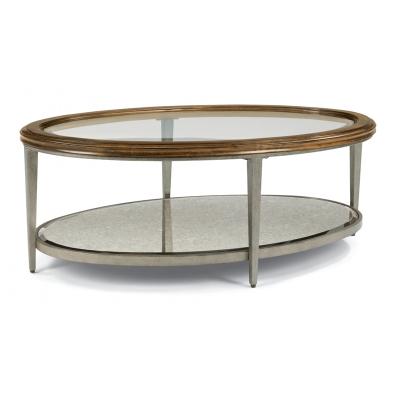 Flexsteel Oval Coffee Table