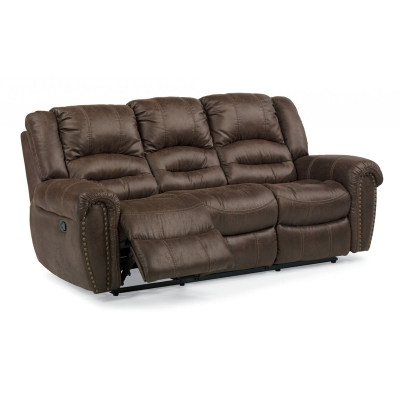 Flexsteel 1410 62 New Fabric Reclining Sofa Discount