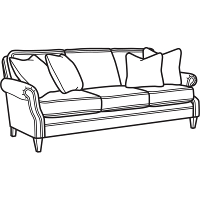 Flexsteel Fabric Sofa without Nailhead Trim