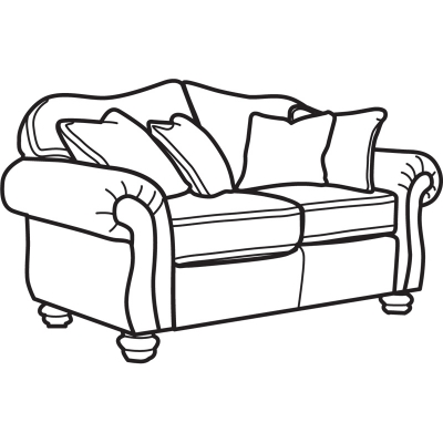 Flexsteel Two Tone Fabric Loveseat without Nailhead Trim