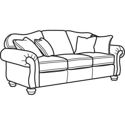 Flexsteel Two Tone Fabric Sofa without Nailhead Trim
