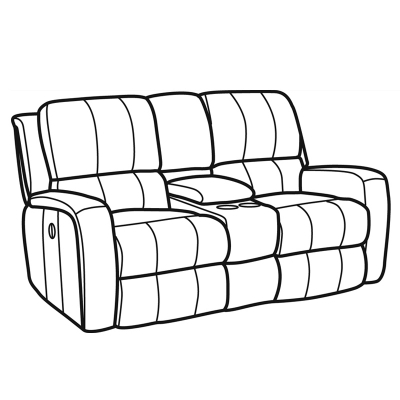 Flexsteel Fabric Power Reclining Loveseat with Console