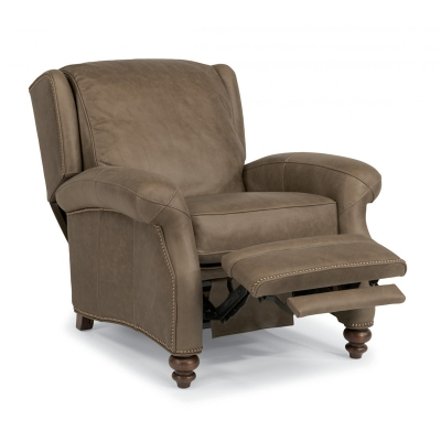 Flexsteel 1248 50p Wallace Leather Power High Leg Recliner Discount Furniture At Hickory Park