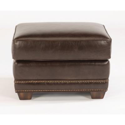 Flexsteel Leather Ottoman