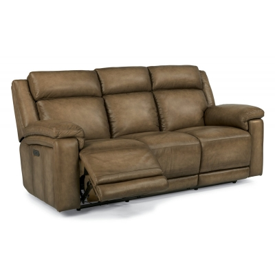 Flexsteel 1509 62ph Brody Leather Power Reclining Sofa