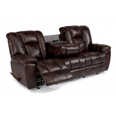 Flexsteel Fabric Gliding Reclining Sofa