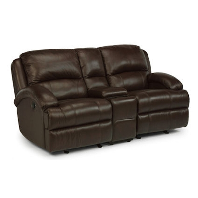Flexsteel Leather Rocking Reclining Love Seat