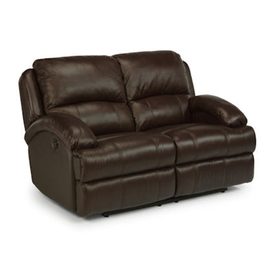 Flexsteel Leather Power Reclining Love Seat