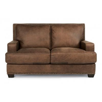 Flexsteel 1324 20 Fremont Leather Loveseat Discount Furniture At Hickory Park Furniture Galleries