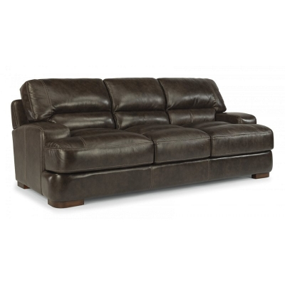 Flexsteel Leather Sofa