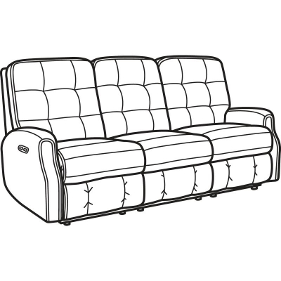 Miraculous Flexsteel 2882 62H Devon Fabric Power Reclining Sofa With Squirreltailoven Fun Painted Chair Ideas Images Squirreltailovenorg
