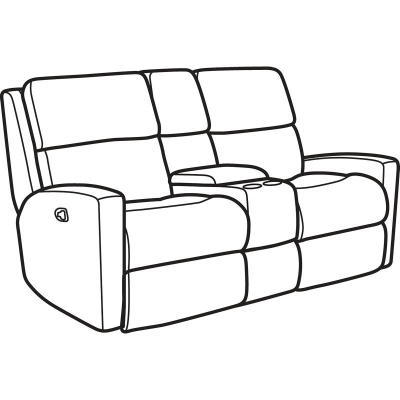 Flexsteel Fabric Reclining Loveseat with Console