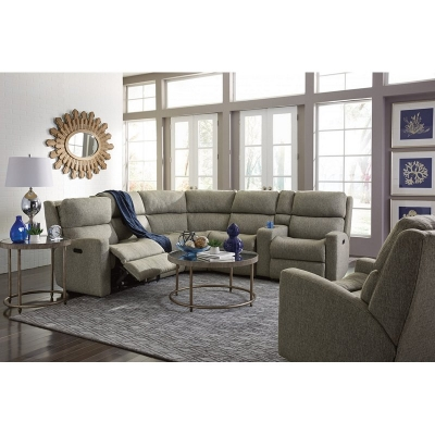 Flexsteel Fabric Power Reclining Sectional