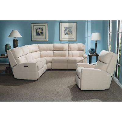 Flexsteel Leather Power Reclining Sectional