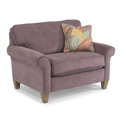 Flexsteel Fabric Chair and a Half