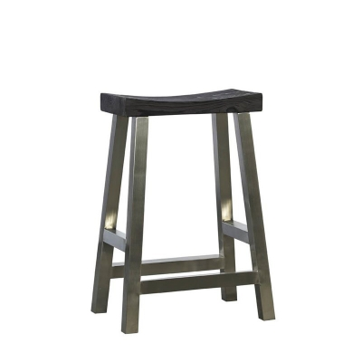 Furniture Classics Stainless Steel Crescent Counter Stool