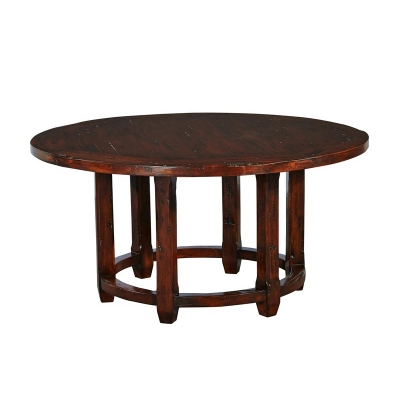 Furniture Classics Round Cocktail Table with Plank Top