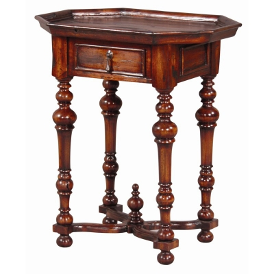 Furniture Classics Octagonal Side Table with Plank Top
