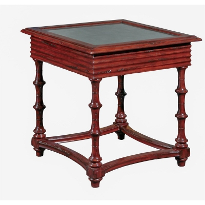 Furniture Classics Linen Fold Side Table Eglomise Top