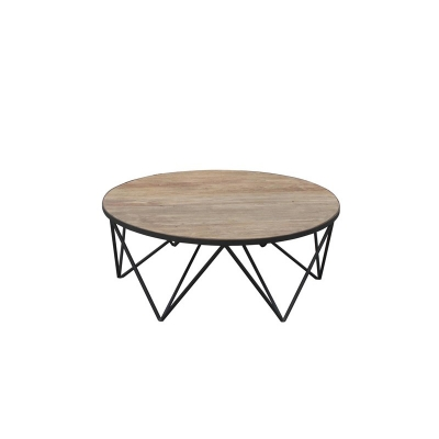 Furniture Classics Iron and Old Elm Coffee Table