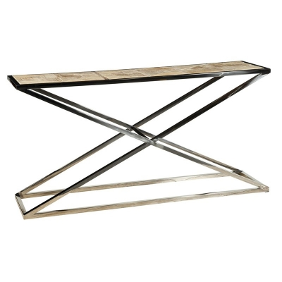 Furniture Classics Stainless Steel Cross Console