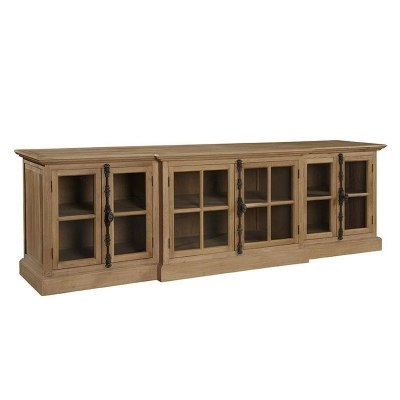 Furniture Classics Washed Oak Entertainment Console